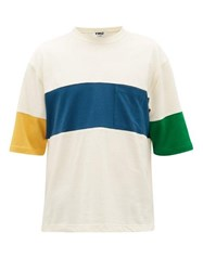 Ymc Zappa Panelled Cotton Blend Mesh T Shirt Multi