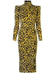 Alex Perry Miles Leopard Print Dress 60