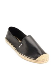 Lauren Ralph Lauren Danita Sheepskin Leather Espadrille Flats Black