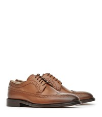 Reiss Ash Mens Leather Brogues In Brown