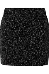 Bella Freud Glittered Cotton Velvet Mini Skirt Black