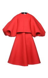 Dice Kayek Oversized Sleeve Dress Red