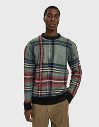 Stussy Plaid Mohair Sweater Green