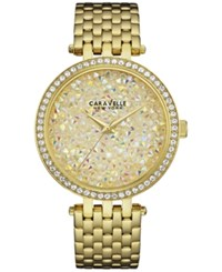 Caravelle New York By Bulova Women's Gold Tone Stainless Steel Bracelet Watch 38Mm 44L184