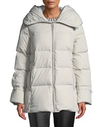 Cole Haan Soft Touch Channel Quilt Down Jacket Gray