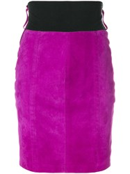 Gianfranco Ferre Vintage Fitted Short Skirt Pink And Purple