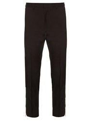 Mcq By Alexander Mcqueen Zip Cuff Cropped Wool Trousers Black