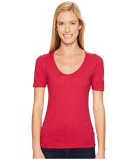 Outdoor Research Camila High Low Tee Sangria Women's T Shirt Red