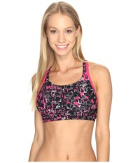 Speedo Print Aqua Elite Swim Top Power Pink Women's Swimwear