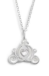 Disney Princess Cinderella Carriage Pendant Necklace Silver