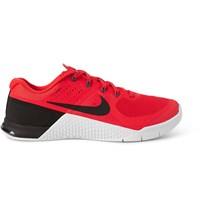Nike Training Metcon 2 Mesh And Rubber Sneakers Red