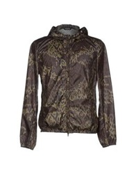 Grey Daniele Alessandrini Jackets Military Green