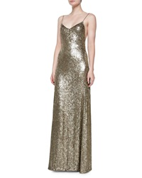 Ralph Lauren Collection Darcy Beaded Silk Low Back Gown