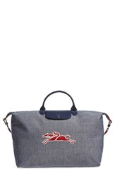 Longchamp Le Pliage Road Chambray Travel Tote