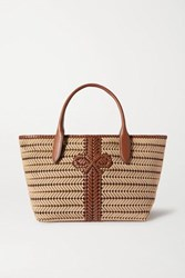 Anya Hindmarch Neeson Woven Leather Trimmed Rope Tote Neutral