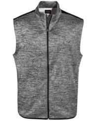 Greg Norman For Tasso Elba Men's Hydrotech Heathered Zip Vest Only At Macy's Med Grey Heather