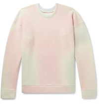 The Elder Statesman Tie Dyed Cashmere Blend Sweater Pink