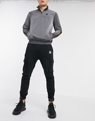 Sik Silk Siksilk Cargo Joggers In Black