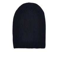 Barneys New York English Rib Knit Beanie Navy