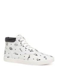 Bucketfeet Sailor Tales Mid Top Leather Sneakers White