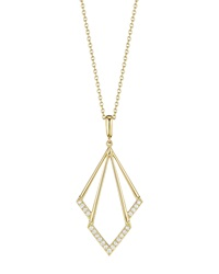 Geometric Diamond Pendant Necklace Penny Preville