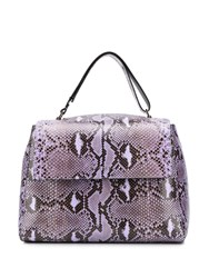 Orciani Reptile Print Tote Bag Purple