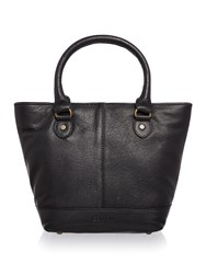 Barbour Leather Tote Bag Black