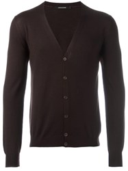 Tagliatore 'Murray' V Neck Cardigan Brown