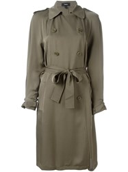 Theory 'Laurelwood' Trench Coat Green