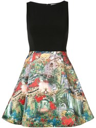 Alice Olivia Roman Holiday Dress Black
