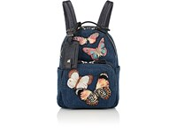Valentino Garavani Mini Denim Backpack Blue