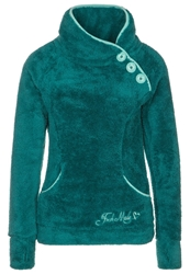Fresh Made Fleece Jumper Greenish Petrol Turquoise