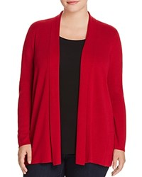Eileen Fisher Plus Shawl Collar Cardigan China Red