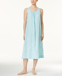 Charter Club Lace Trimmed Embroidered Nightgown Only At Macy's Soft Rain