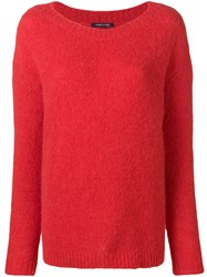 Woolrich Boat Neck Jumper Red