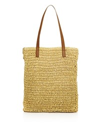 Echo Straw Tote 100 Exclusive Natural Brown Silver
