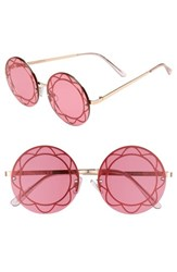 Sam Edelman Circus By 55Mm Round Sunglasses Rose Gold Red Lens Rose Gold Red Lens