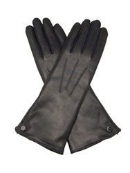Agnelle Rabbit Fur Lined Leather Gloves