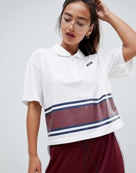 Juicy Couture By Cropped Polo Shirt With Exposed Zip Navy