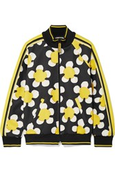 Marc Jacobs Striped Printed Tech Jersey Track Jacket Yellow Usd
