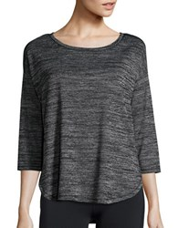 Lord And Taylor Heathered Sleep Top Black