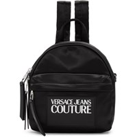 Versace Jeans Couture Black Nylon Logo Backpack