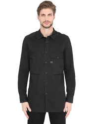 G Star Aged Cotton Shirt With Pockets