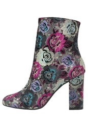Dune London Oxford High Heeled Ankle Boots Multicolor Multicoloured