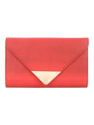 Jane Norman Red Croc Clutch Bag