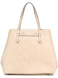 Furla Slouchy Trapeze Tote Nude Neutrals