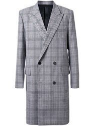 Juun.J Plaid Double Breasted Coat 60