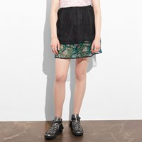 Coach Apron Skirt Black Multi