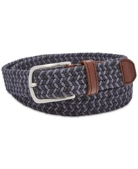 Fossil Men's Kyle Woven Belt Navy
