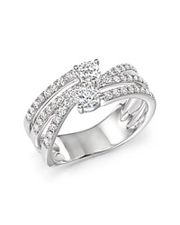 Bloomingdale's Diamond Two Stone Multi Band Ring In 14K White Gold .79 Ct. T.W.